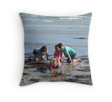 Fun in the Winter Sun! Fort Glanville,Adelaide Beach, Sth. Australia. Throw Pillow
