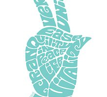 Life Force Hand in Soft Seafoam Teal by aygeartist