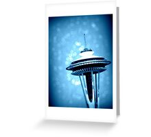 Space Needle in Blue Greeting Card