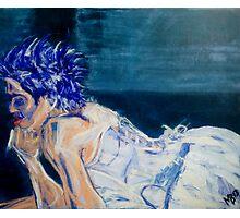 Electric Blue Photographic Print