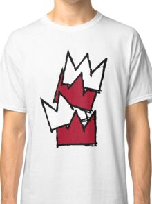 Stacked Crowns - Red Classic T-Shirt