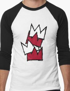 Stacked Crowns - Red Men's Baseball ¾ T-Shirt