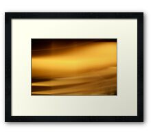 All That Shimmers Is Not Gold Framed Print