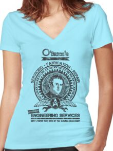 O'Briens Engineering Services Women's Fitted V-Neck T-Shirt