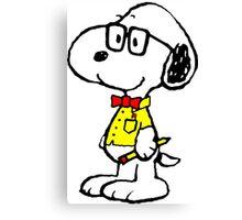 Nerd Snoopy Canvas Print