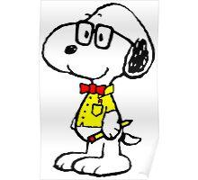Nerd Snoopy Poster