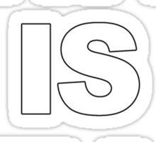 SWAG IS DEAD Sticker