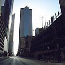 Downtown Dallas - Sunday Morning by AJ Belongia