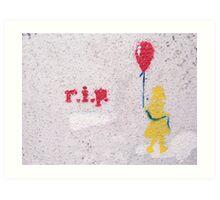 rest in peace grafitti Art Print