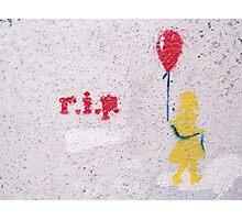 rest in peace grafitti Photographic Print