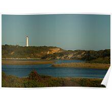 Joe Mortelliti Gallery - Split Point Lighthouse at Aireys Inlet, Great Ocean Road, Victoria, Australia.  Poster