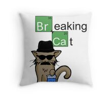 Breaking Cat  Throw Pillow