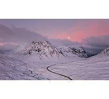 Glen Coe Moonlight Photographic Print