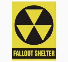Nuclear Fallout Shelter Sign by SignShop
