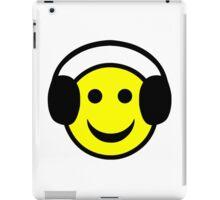 Headphone Smiley iPad Case/Skin
