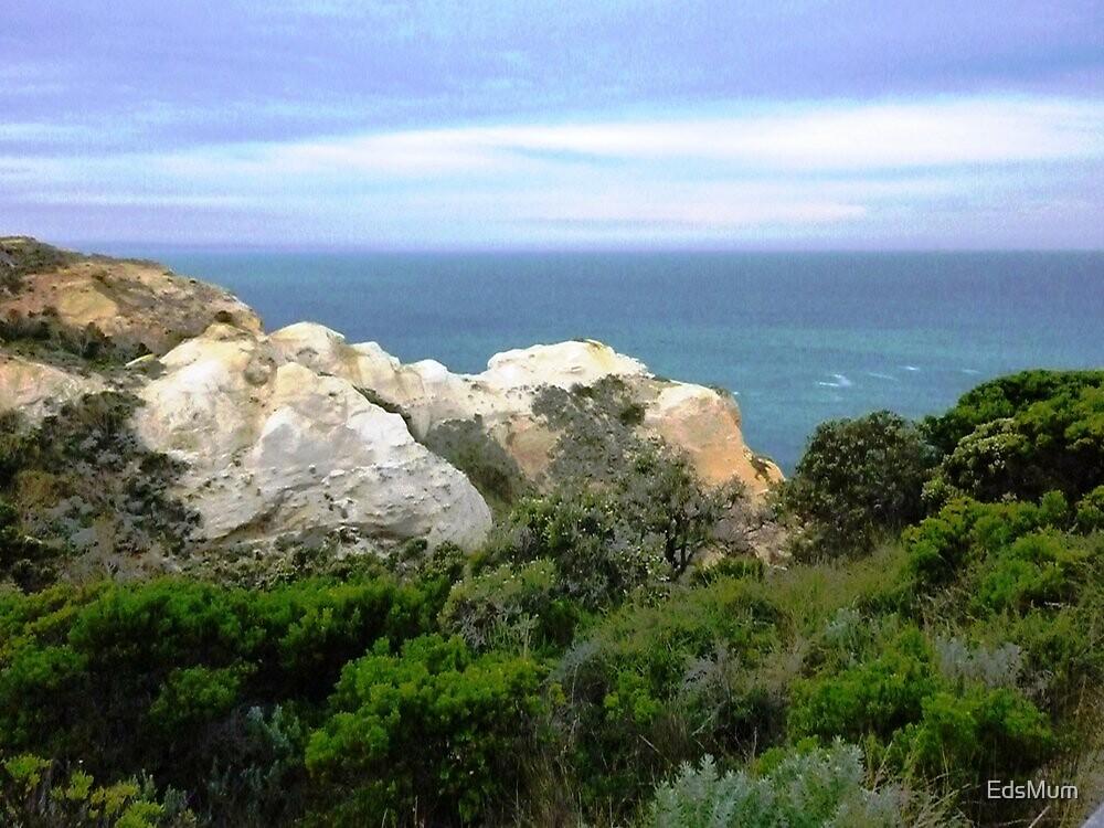 *Sandstone cliffs along Great Ocean Rd. Vic.* by EdsMum