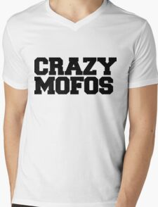 Crazy Mofos Mens V-Neck T-Shirt