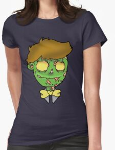 Bow-tie Zombie Womens Fitted T-Shirt