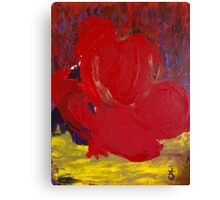 Abstract Red Rose in Nature Canvas Print