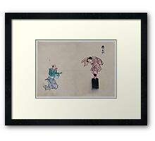 Kyōgen play with two characters 001 Framed Print