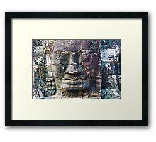 Faces Of Bayon 2 Framed Print