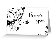 thank you flowers Greeting Card