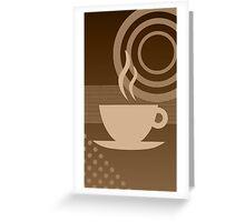 modern coffee Greeting Card