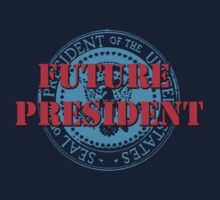 Future President (White) One Piece - Short Sleeve