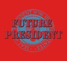 Future President (White) One Piece - Long Sleeve