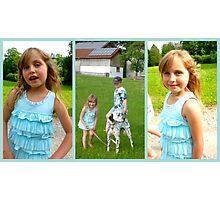 Walking the dog... Photographic Print