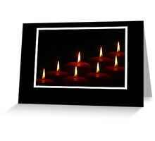 Christmas card with tealight candles Greeting Card