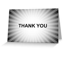 thank you burst Greeting Card