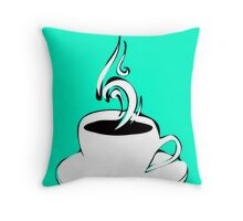 coffee curls Throw Pillow