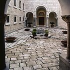 Courtyard Monte Cassino 198403190040  by Fred Mitchell