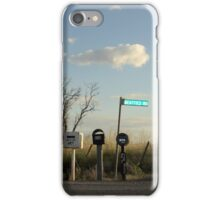 Rural Mail Boxes iPhone Case/Skin