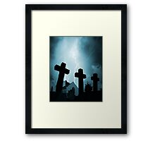 Cemetary Storm Framed Print