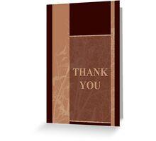 thank you greeting card Greeting Card