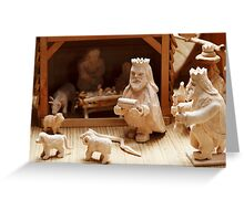 Christmas card with nativity scene Greeting Card