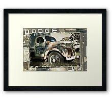 Dudley's Old Dodge Framed Print