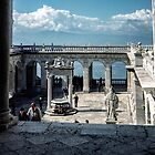 Looking over the forecourt of Monte Cassino 198403190041 by Fred Mitchell