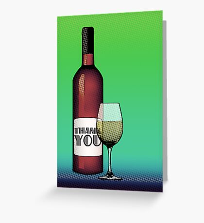 thank you wine Greeting Card