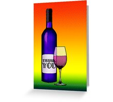 thank you champagne Greeting Card