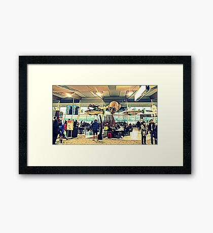 Gollum Dives In Framed Print