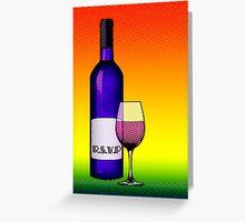 rsvp wine card Greeting Card