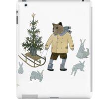Bear, Christmas Tree and Bunnies iPad Case/Skin