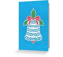 Christmas Bell - Blue Greeting Card