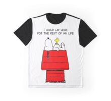 Woodstock and Snoopy Graphic T-Shirt