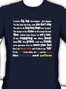 Rapper's Delight - lyrics T-Shirt