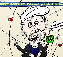 Rohani caricature politique de Iran by Binary-Options