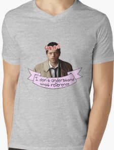 Castiel doesn't understand your reference Mens V-Neck T-Shirt